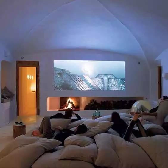 电视墙别再装柜子了,这样设计的电视背景墙,简洁时尚又大方!