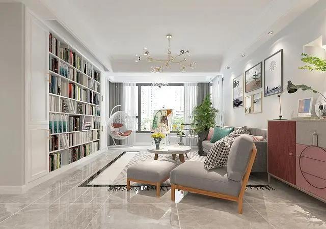 130平装修花了22万 把图书馆+画室装入家 朋友羡慕得直跺脚